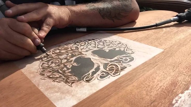 Dremel wood carving project headboard part
