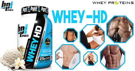 BPI Sports Whey-HD Ultra Premium Protein is a Best Muscle Gainer Supplement.