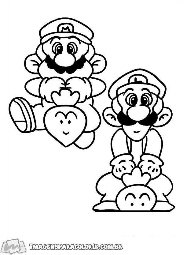 Super Mario E Luigi 01 Paginas Para Colorir Desenhos Para Colorir