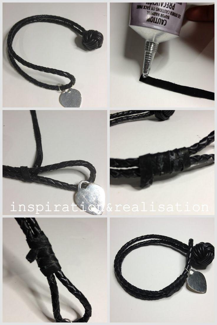 diy leather bracelet tutorial - photo #33