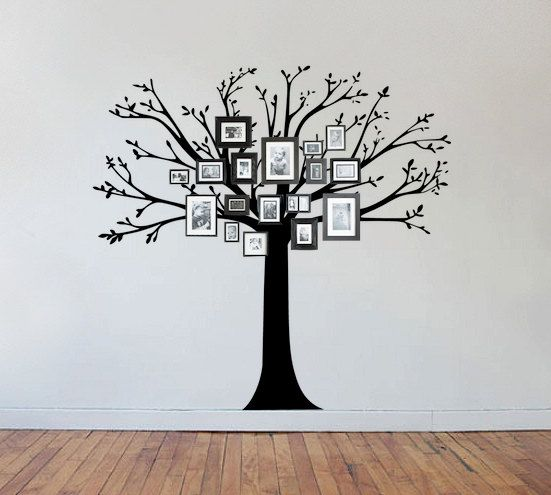 Family Tree Wall Decal. For an office or library.