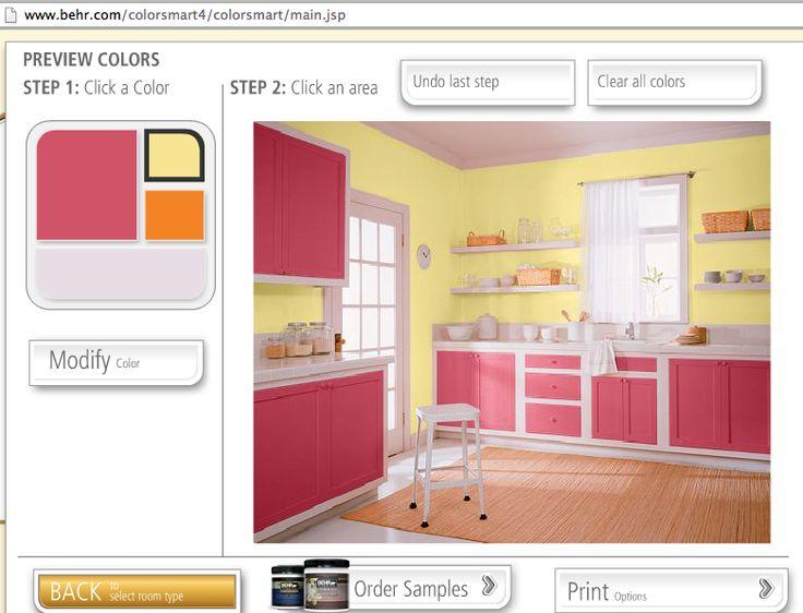 Kitchen Color Ideas Behr Dragon Fruit And Chilled Lemonade Paint Colors Pinterest
