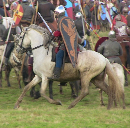 Battle of Hastings ReenactmentA Norman Knight  (Research for The Second Rose www.EKaiserWrites.webs.com)