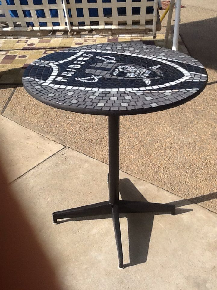 Raiders Table Mosaic Sports Logo Art Crazy Lazy