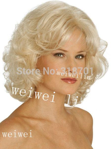 Středně dlouhé Rovné Syntetické Vlasy Paruka Blond a hnědé mix doprava zdarma…