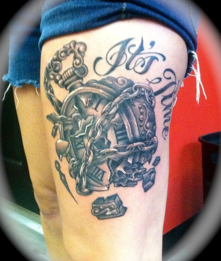 Meaning Of Clock Tattoo: 34 Best Broken Clock Tattoo Images On Pinterest