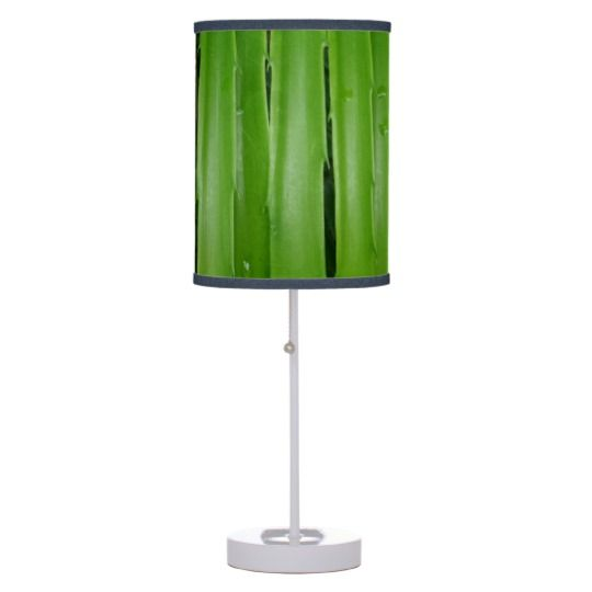 #zazzle #home #office #night #light #gift #giftidea #Green #Leafs #Table #Lamp