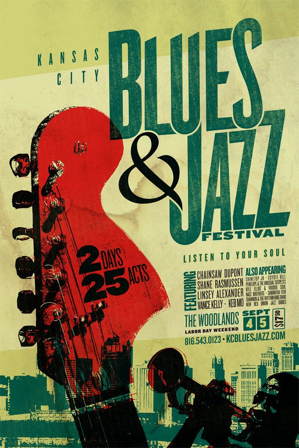 Blues & Jazz Festival by Jeremy Kramer, via Behance