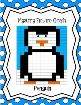 penguin math free winter activity coordinate grid