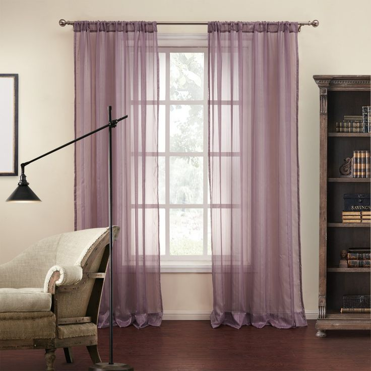 Striped Mediterranean Purple sheer Curtains  #curtains #stripe #modern #cotton #custommade #homedecor #decor