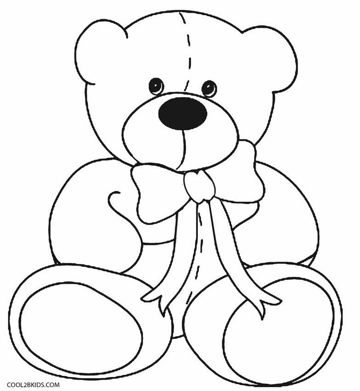 Teddy Bear Coloring #adultteddybearcoloringpages #