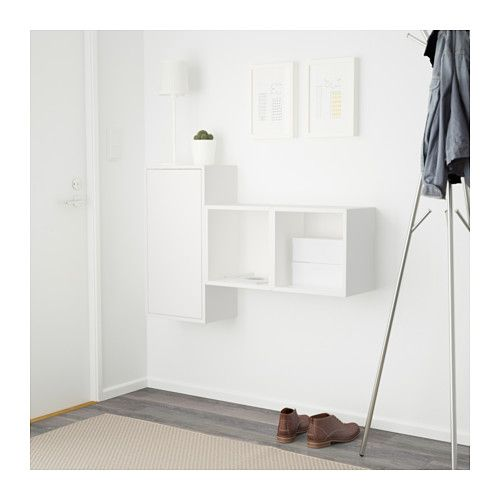 EKET Vægmonteret skabskombination - hvid - IKEA