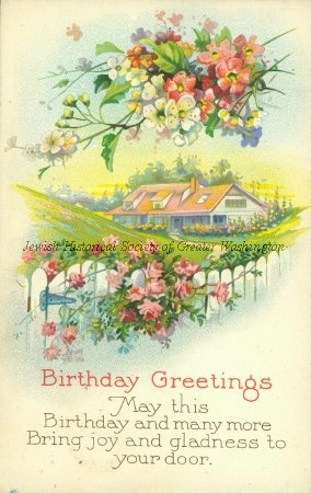 Birthday postcard from Rich's shoe store to Eleanor Blumenthal, 1939Postcards Birthday, Birthday Postcards