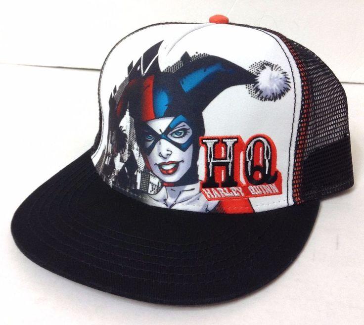 DC COMICS HARLEY QUINN HAT Trucker Snapback White/Black ...