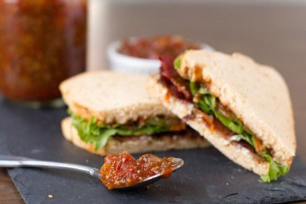 Chia Seed Tomato Jam and a BLT