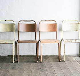 Chairs in muted colours