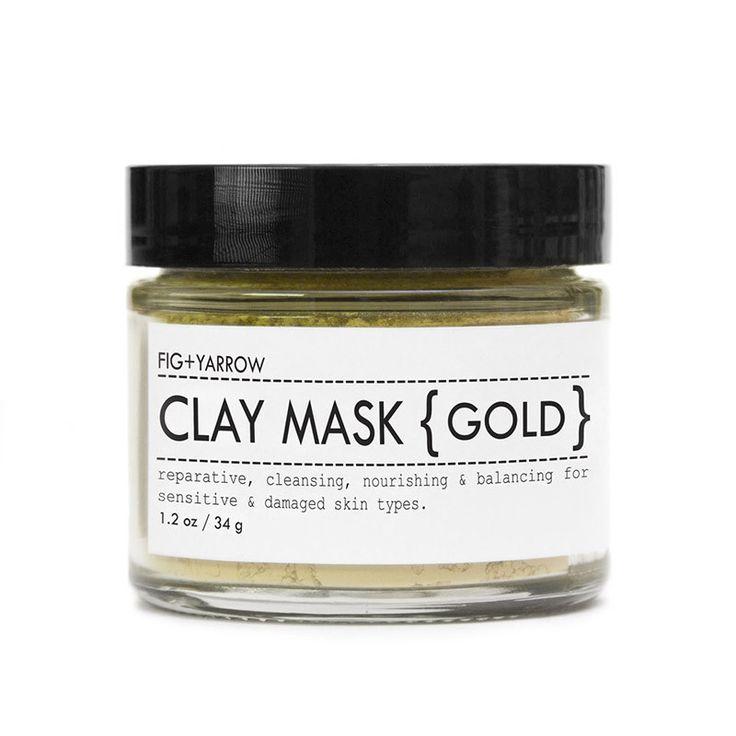Fig+Yarrow Clay Mask {Gold} - reparative, cleansing, nourishing & balancing for sensitive & damaged skin types.