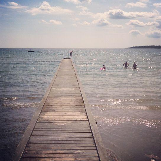 Slite strand – Gotlandstips.se  #beach #sand #ocean #holiday #gotland #sweden #pier