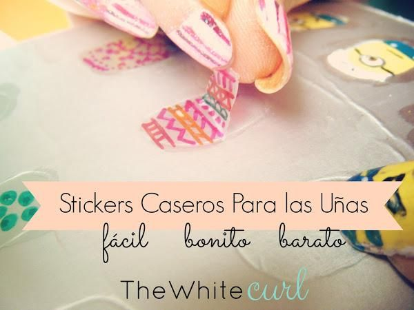 Stickers caseros para decorar tus uñas