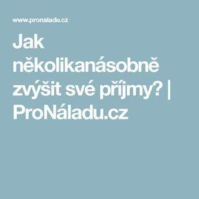 Jak několikanásobně zvýšit své příjmy? | ProNáladu.cz