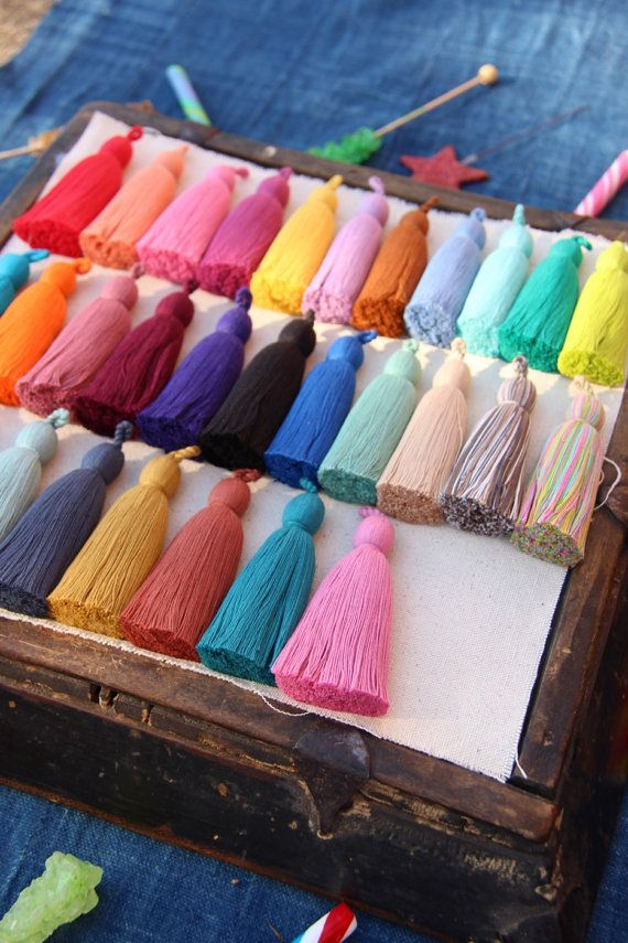 Tassel Luxe Large Handmade Cotton Tassels 3.75 by WomanShopsWorld