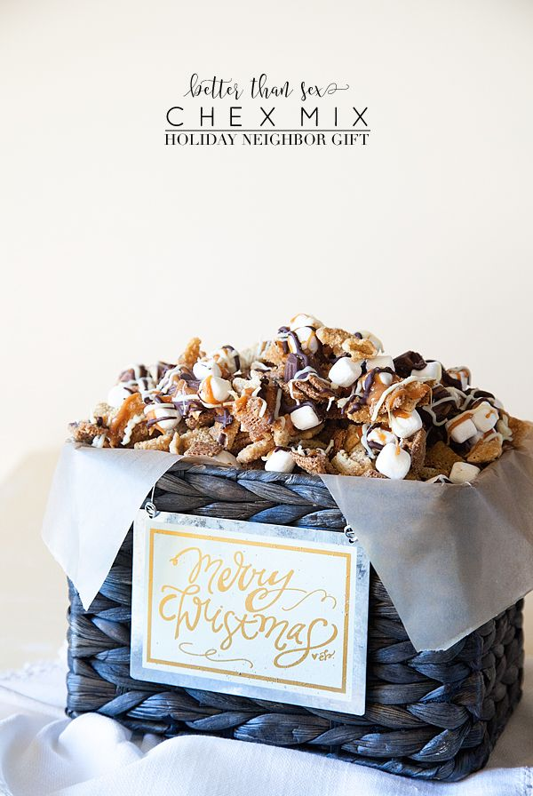 Better Than Sex Chex Mix Recipe & Neighbor Gift Idea for the Holidays from WhipperBerry