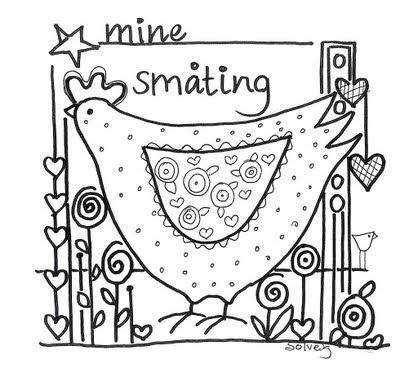 TO DO: Use this free Stitchery pattern for vintage fabric, stuffed chickies...embroider and embellish...turn into brooches or hang on long vintage lacy ribbons