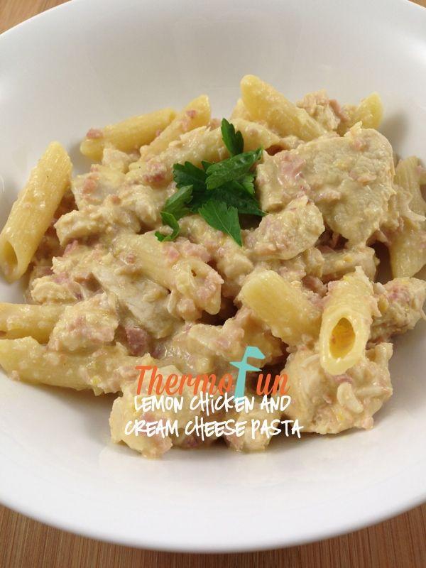 ThermoFun – MAD MONDAY – Lemon Chicken and Cream Cheese Pasta Recipe