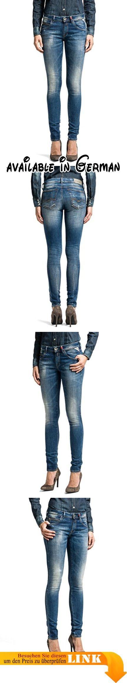 Replay Damen Slim Jeanshose Yasmeen, Gr. W32/L34 (Herstellergröße: 32), Blau (Denim Blue 7). Diese Röhre von Replay sollte in keinem gut sortierten Kleiderschrank fehlen. Die schmal geschnittene Jeans passt sich dank des Stretch-Anteils und ihrer robusten Qualität perfekt an die Haut an. Sie hat vorne eine normale Leibhöhe und ist hinten etwas höher geschnitten. Mit engem Print-Shirt oder Longbluse, High Heels und interessanten Accessoires gelingen sexy Outfits wie