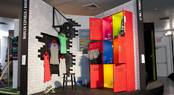 "NIKE GYM OF OLYMPIANS, New York, ""Product Showroom"",photo by We Came In Peace, pinned by Ton van der Veer"