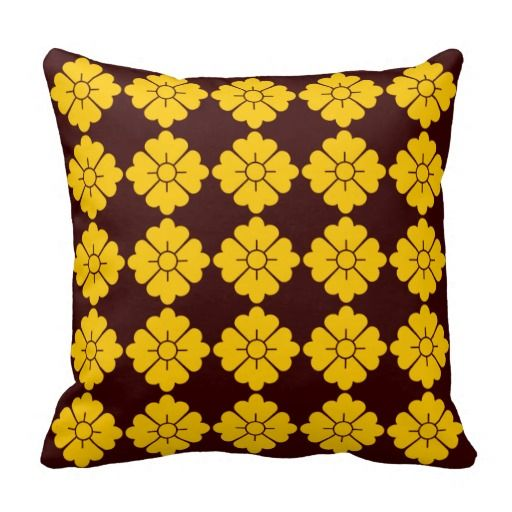 Flower shape design ornamental/decorative pillows - Customizable: you can also change the background to any color you like as well as scale/position the design. For your convenience, the design is in both the front and the back, but if you don't want it in the back, you can always remove it.
