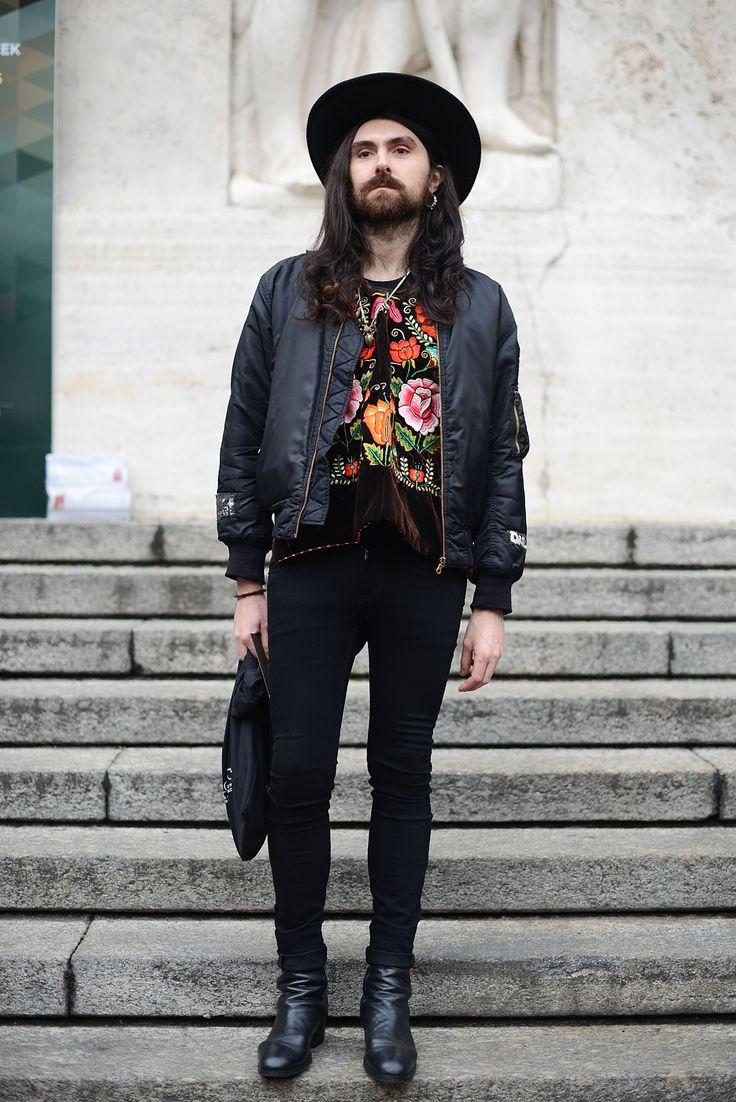 Street Style At Men's Fashion Week  - ELLE.com