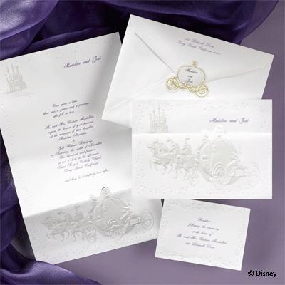 Cinderella Wedding Proclamation invitation