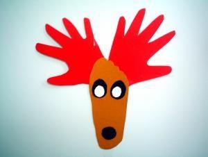 Weihnachtselch aus Fuß und Händen - Weihnachten-basteln - Meine Enkel und ich - Made with schwedesign.de