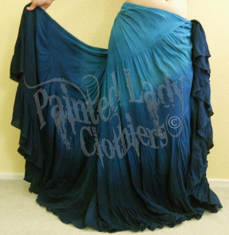 """Pacifica"" Gothica 25 Yard Petticoat Skirt using our Kingfisher, Teal and Black color options in the Banded Design Option.  You can order yours here:  http://www.paintedladyemporium.com/Shop-Here.html"