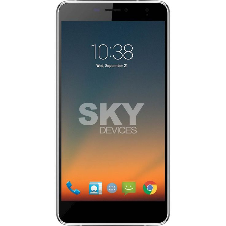 Unlocked SKY Devices - Elite 6.0L+ 4G LTE with 8GB Memory Cell Phone - Silver