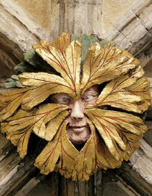 Green Man roof boss at Norwich Cathedral