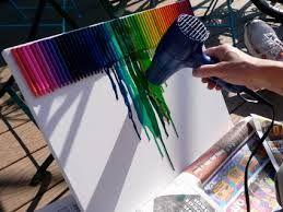 cuadro de crayola derretida