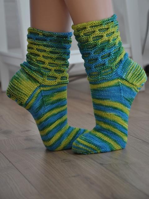 Circle Socks #knit #free_pattern