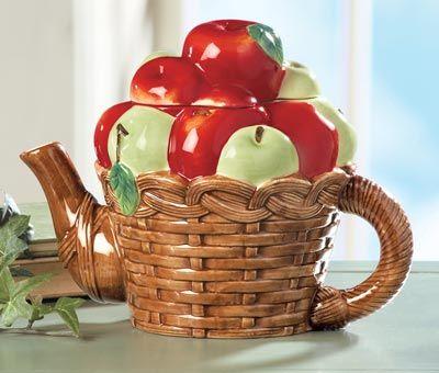 235 best images about teapots fruit veggies on pinterest for Apple fruit decoration
