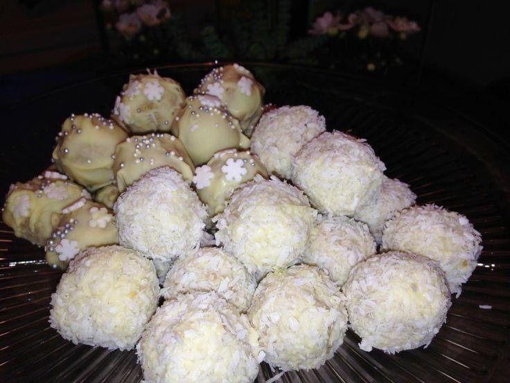 Smaklycka/Guldkorn i livet Snöbollar med lime och vit choklad
