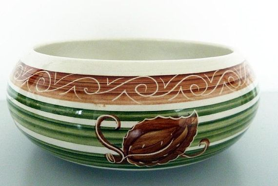 Vintage Mid Century Bowl By Dragon Pottery of Rhayader, Wales
