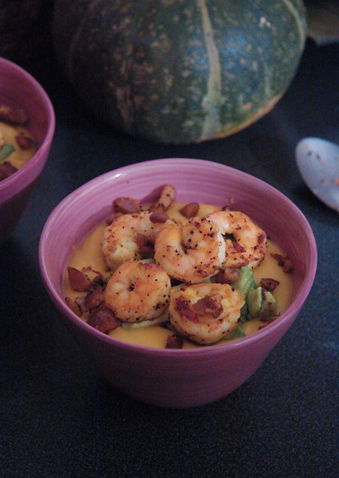 Recette velouté de patate douce aux crevettes