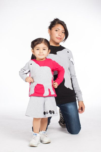 Pullover & Sweatshirts - Pullover Elefant Luanimals pink - ein Designerstück von Luanimals bei DaWanda