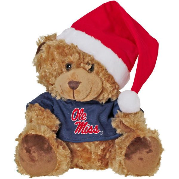 Ole Miss Rebels Bear with Santa Hat