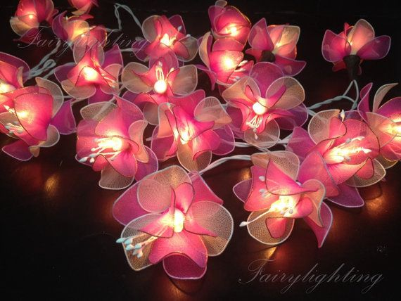 String Lights  20 Mix Pink Lotus With Pollen by fairylighting, £9
