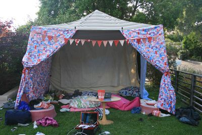 Movie night tent