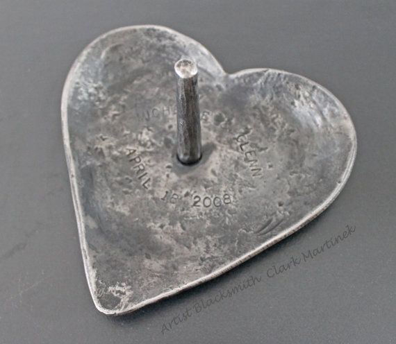 Iron Ring Dish Jewelry dish Hand forged Iron by toughandtwisted, $98.00
