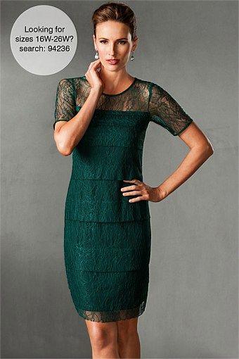 Dresses - Grace Hill Layered Lace Shift