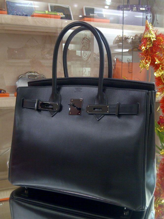 Hermes SO Black Birkin 30cm